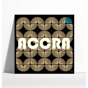 "Affiche style rétro ""Accra""  - collection ""My African Vintage"""