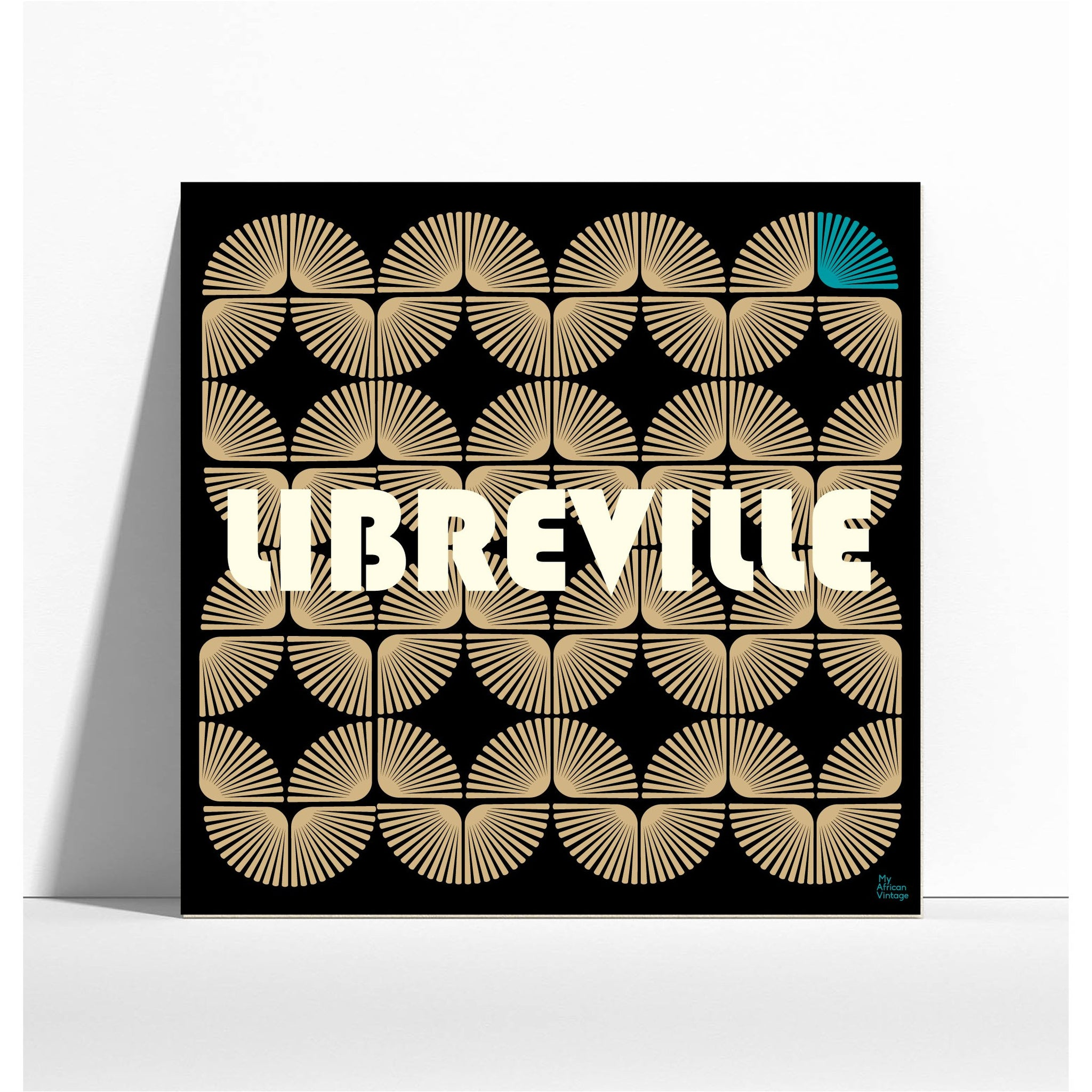 "Affiche style rétro ""Libreville""  - collection ""My African Vintage"""