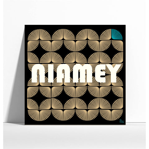 "Affiche style rétro ""Niamey"" -  collection ""My African Vintage"""