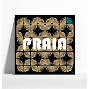 "Affiche style rétro ""Praia""  - collection ""My African Vintage"""