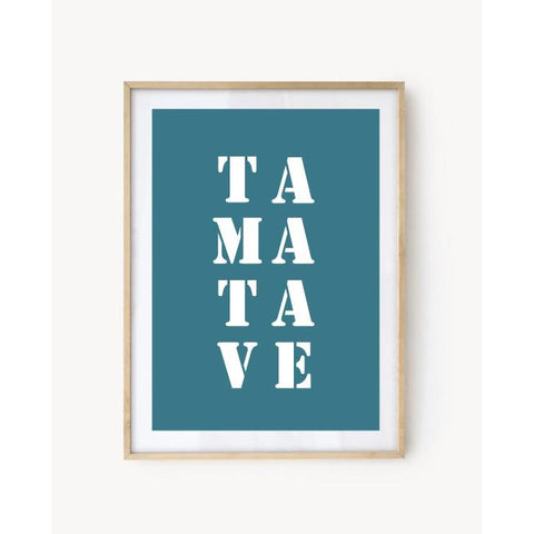 "Affiche ""Tamatave"" bleu turquoise"