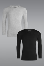 MicroModal Long Sleeve Undershirt 2 Pack