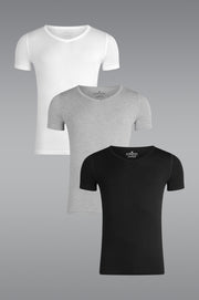 MicroModal V Neck Undershirt 3 Pack