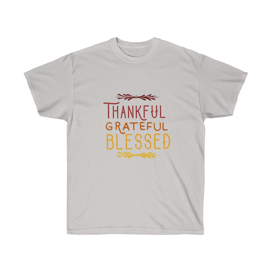 Thankful Grateful Blessed  Unisex Ultra Cotton Light Color Tee