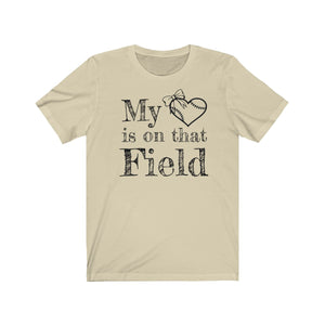My Heart Softball Unisex Jersey Short Sleeve Tee