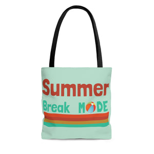 Summer Break Mode AOP Tote Bag