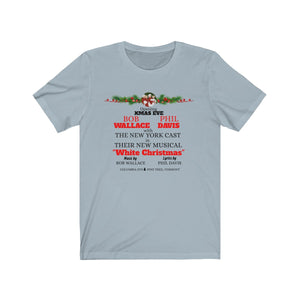 White Christmas Jersey Short Sleeve Tee