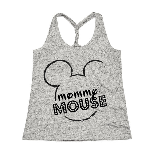 Mommy Mouse Cosmic Twist Back Tank Top