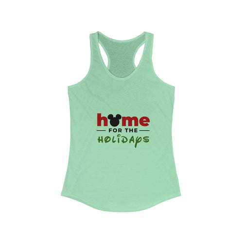 Home For The Holidays Women's Ideal Racerback Tank
