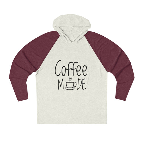 Coffee Mode Tri-Blend Raglan Hoodie