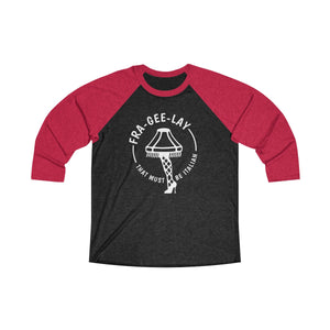 FraGeeLay Tri-Blend 3/4 Raglan Tee - Light