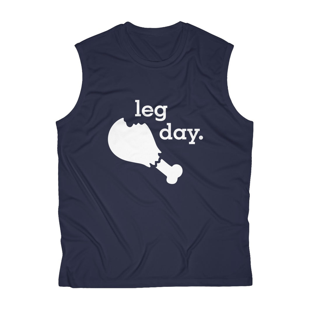 Leg Day Men's Sleeveless Performance Tee