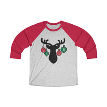 Load image into Gallery viewer, Ohio Holiday Ornaments Unisex Tri-Blend 3/4 Raglan Tee