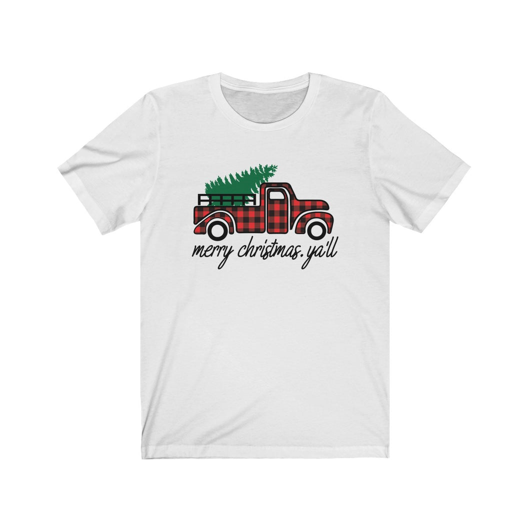 Merry Christmas Yall Unisex Jersey Short Sleeve Tee