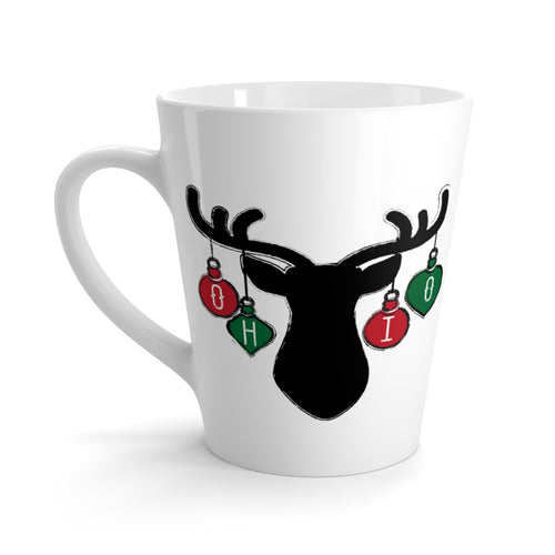 Ohio Holiday Ornaments Latte mug