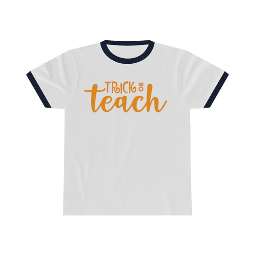 Trick or Teach Unisex Ringer Tee