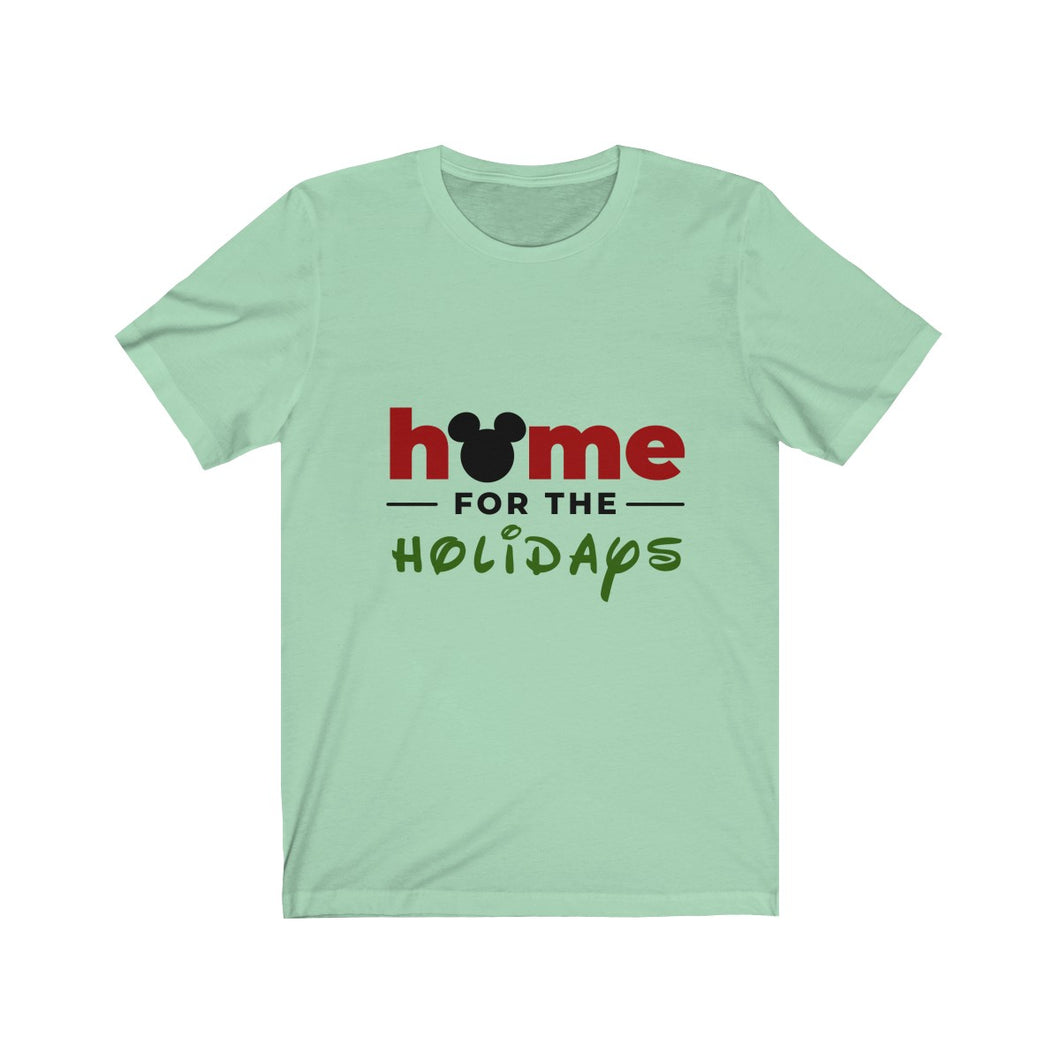 Home For The Holidays Unisex Jersey Short Sleeve Tee