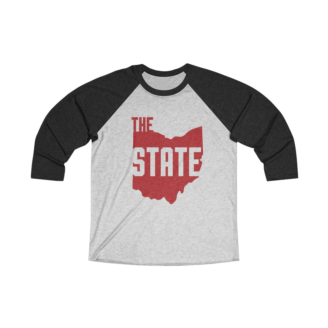 THE Ohio State Unisex Tri-Blend 3/4 Raglan Tee