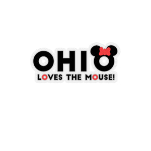 Ohio Loves The Mouse Kiss-Cut Stickers