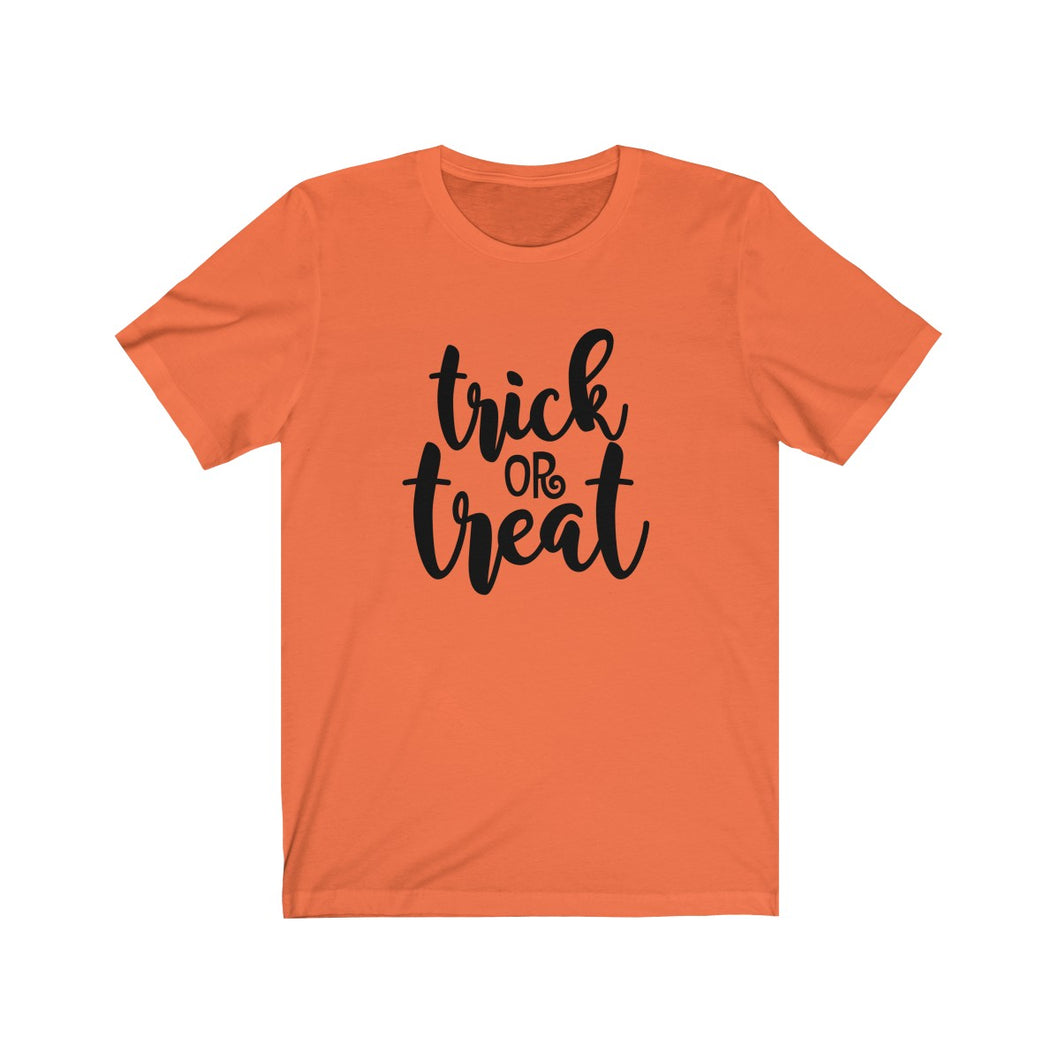 Trick or Treat Unisex Jersey Short Sleeve Tee
