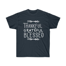 Load image into Gallery viewer, Thankful Grateful Blessed Unisex Ultra Cotton Light Color Tee