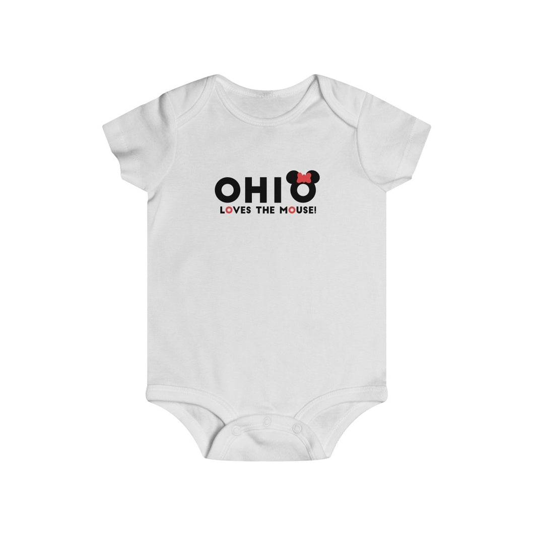 Ohio Loves The Mouse Infant Rip Snap Tee