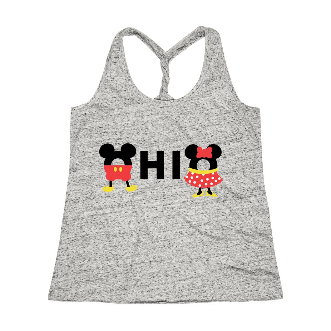 Ohio Loves The Mouse Cosmic Twist Back Tank Top