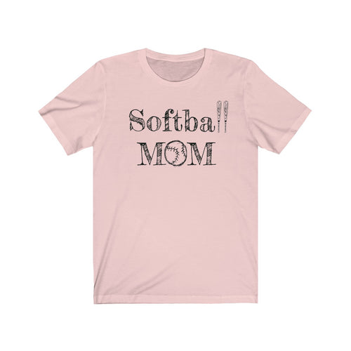 Softball Mom Unisex Jersey Short Sleeve Tee