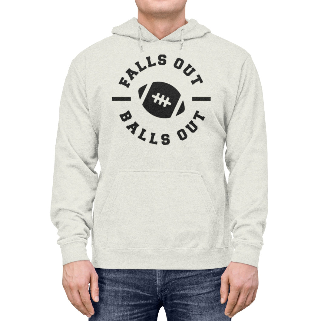 Falls Out Balls Out Unisex Lightweight Hoodie