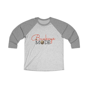 Buckeye Mode Tri-Blend 3/4 Raglan Tee - Light