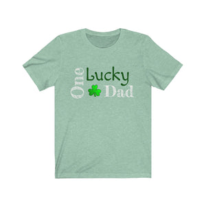 Lucky Dad Unisex Jersey Short Sleeve Tee