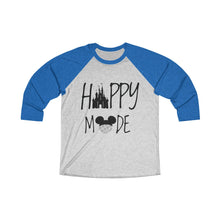Load image into Gallery viewer, Happy Mode Tri-Blend 3/4 Raglan Tee - Light