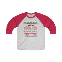 Load image into Gallery viewer, White Christmas Tri-Blend 3/4 Raglan Tee - Double Sided