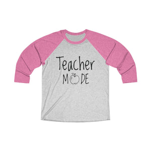 Teacher Mode Tri-Blend 3/4 Raglan Tee - Light