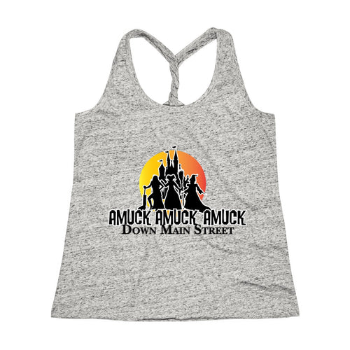 Amuck! Down Main Street Cosmic Twist Back Tank Top