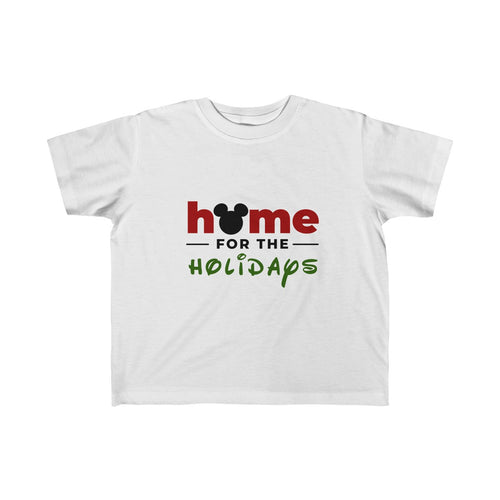 Home For The Holidays Toddler Fine Jersey Tee