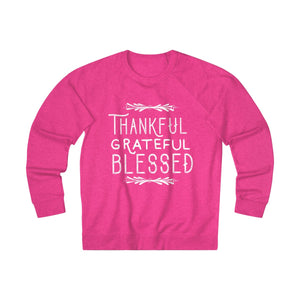 Thankful Grateful Blessed Unisex French Terry Crew