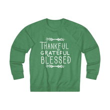 Load image into Gallery viewer, Thankful Grateful Blessed Unisex French Terry Crew