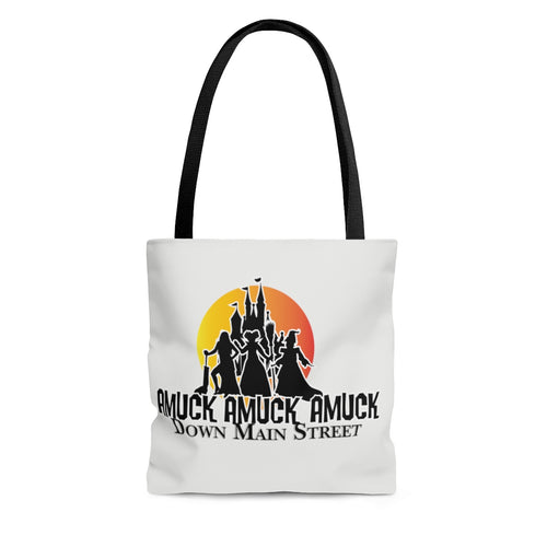 Amuck! Down Main Street AOP Tote Bag