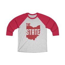 Load image into Gallery viewer, THE Ohio State Unisex Tri-Blend 3/4 Raglan Tee
