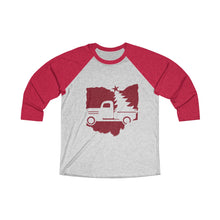 Load image into Gallery viewer, OH Holiday Truck Unisex Tri-Blend 3/4 Raglan Tee