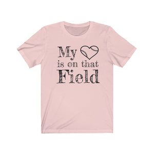 My Heart Baseball Unisex Jersey Short Sleeve Tee