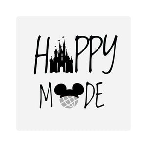 Happy Mode Square Stickers