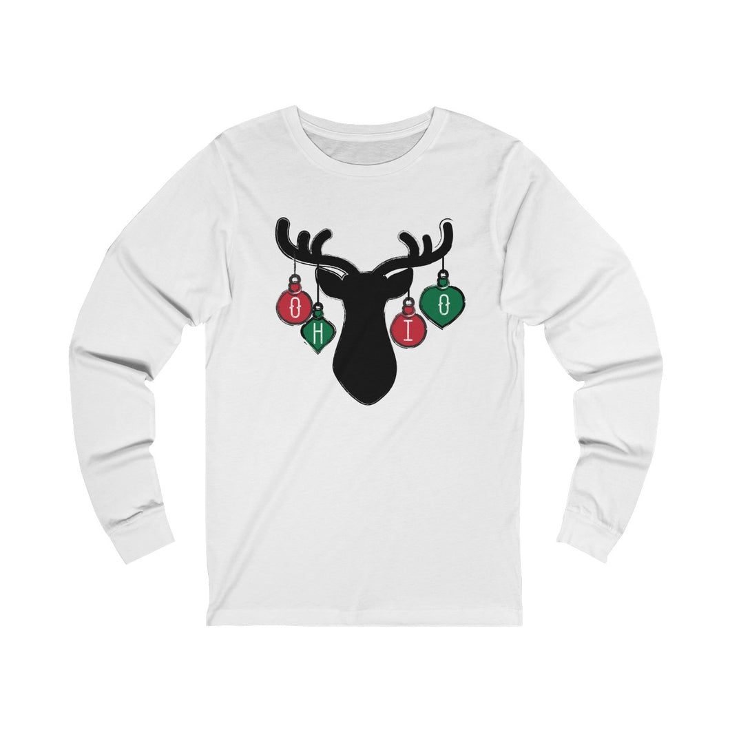 Ohio Holiday Ornaments  Unisex Jersey Long Sleeve Tee