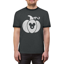 Load image into Gallery viewer, Mickey Pumpkin Unisex Ringer Tee