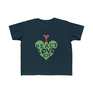 Peace Love and Joy Toddler Fine Jersey Tee - Dark