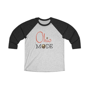 Ohio Mode Tri-Blend 3/4 Raglan Tee - Light