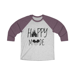 Happy Mode Tri-Blend 3/4 Raglan Tee - Light