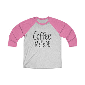 Coffee Mode Tri-Blend 3/4 Raglan Tee - Light
