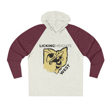 Load image into Gallery viewer, Licking Heights West Tri-Blend Raglan Hoodie